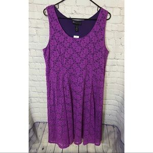 Lane Bryant Purple Lace Midi Dress Size 28 NWT